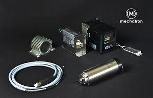 mechatron HF-Spindel Fräsmotor Frässpindel CNC Komplettset 0,8kW