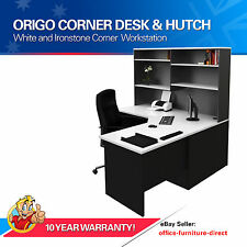 Office Corner Workstation Desk with Hutch, Home Furniture Computer Study Desks