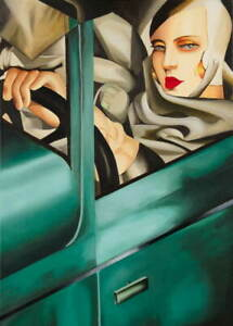 Tamara De Lempicka Self Portrait In Green Bugatti Giclee Paper Print Poster