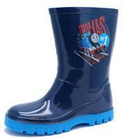 BOYS BLUE THOMAS THE TANK ENGINE WELLIES RAIN SPLASH WELLINGTON BOOTS UK 6-12
