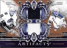 10/11 UD Artifacts Tundra Marian Hossa & Marian Gaborik Dual Jersey #035/125