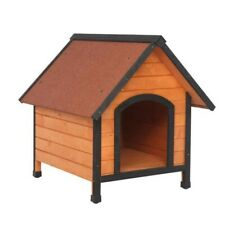 Wood Dog Houses for Pet Dogs Weatherproof Outside Dog Kennel with Door