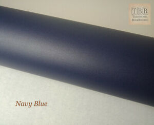 Quality Book cloth- 273 x 250mm- Durable buckram with paper backing- Navy blue