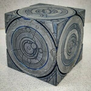 Resin Handpainted 1:1 Scale Tardis Siege Mode Cube inspired by Dr Who.