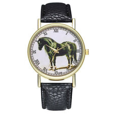 HORSE & WESTERN JEWELLERY JEWELRY WATCHES LADIES HORSE WATCH BLACK BAND