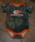 NEW Mossy Oak 18 month Baby Camo / Orange Hunting Romper Bodysuit one-piece