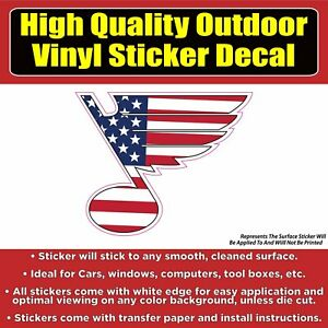 St Louis Blues US flag - Hockey Vinyl Car Window Laptop Bumper sticker decal