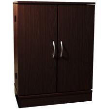 COLUMBUS - Double Door CD DVD Media Storage Cabinet - Dark Oak MS7035