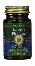 Healthforce Liver Rescue 5.1+ Vegancaps 30-Count (Packaging May... Free Shipping