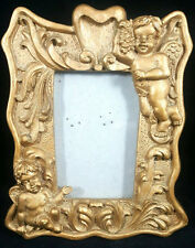 Gold Angel Cherub Ornate 2 x 3 Resin Standing Photo Picture Frame 2x3 Small