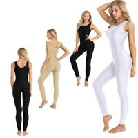 Women One-piece Leotard Bodysuit Gymnastics Yoga Dance Jumpsuit Tank Unitard 2XL