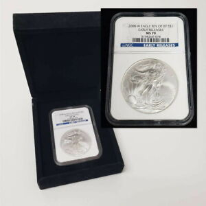 2008 W Silver Eagle $1 Dollar NGC MS70 Rev of 2007 Early Release Coin SHF08SE78