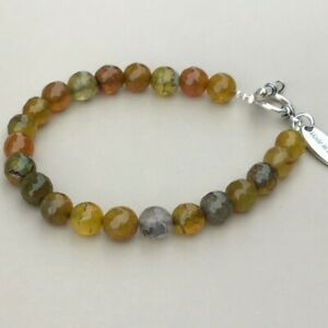 Fire Agate Bracelet-  Made in Ireland