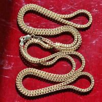 "10k yellow gold 18.0"" Franco link chain necklace vintage 1.9gr"