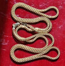 """10k yellow gold 20.0"""" Franco link chain necklace vintage 2.6gr"""