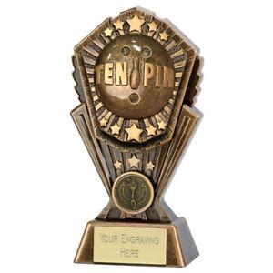 Cosmos Ten Pin Bowling Trophy - Free Engraving