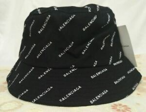 Balenciaga² Bucket Hat Outdoor Sport Packable Cap Black NWT