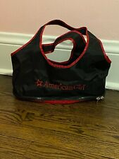 American Girl Black & Red Doll Carry/Bag With Zippered Bottom