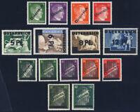 ÖSTERREICH 1945, MiNr. 660-673, tadellos postfrisch, gepr. Soecknick, Mi. 97,-