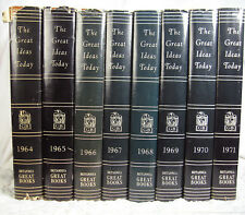The Great Ideas Today Great Books by Britannica, 8 books, 1964-1971  HC DJ