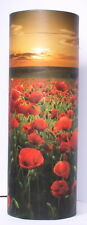 Large Scatter urn For Ashes Biodegradable Cremation Scattering Tube Poppy Sunset