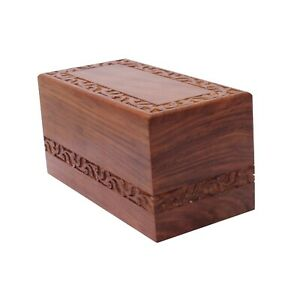 Medium Solid Wood Casket Cremation Urn For Ashes Wooden Memorial Ashes Urn Child