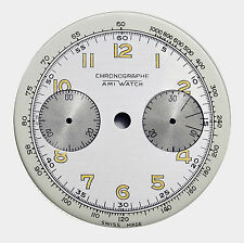 Vintage NOS AMI Chronograph Dial for Landeron L48 and Derivative Calibres, 1940