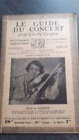 Revista Le Guía de La Concierto Y Las Sketches Letra 1930 N º 26 R.de Saussine