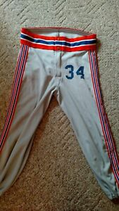 Baseball Pants.  Med.   Grey/ Blue/Orange
