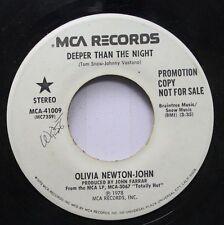 Pop Promo 45 Olivia Newton-John - Deeper Than The Night / Deeper Than The Night