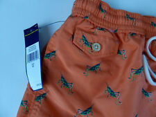 Polo Ralph Lauren Mens Cricket Critter Swim Wear Trunks Shorts $75 w/ Badge NWT