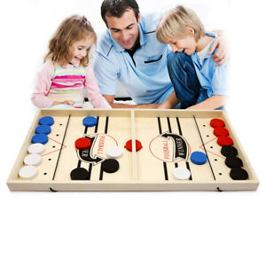 Family Adult Kid Games Fast Sling Puck Game Paced Sling Puck Winner Board Large