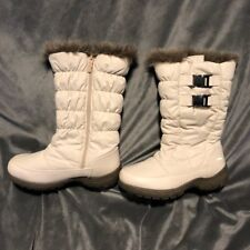 TOTES Women's Winter Rain Boots Faux Fur White Ivory Size 6