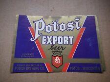 New listing Potosi Export 12 Oz Beer Label~Potosi Brg.,Potosi,Wis