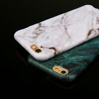Ultra Slim Rubber Soft TPU Silicone Marble Case Cover for Apple iPhone 7 6 Plus
