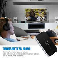 2in1 Bluetooth Transmitter & Receiver Wireless Home TV Stereo Audio Adapter A2DP