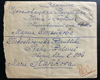 1925 Trostianee Russia Registered cover to Prague Czechoslovakia