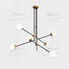 Retro Glass Lighting Metal Chandelier Bedroom Pendant Lamp Ceiling Fixtures Home
