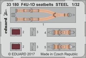 ED33180 - NEW Eduard 1:32 Vought F4U-1D Corsair seatbelts Colour Etched