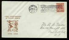 645 VALLEY FORGE FDC WEST CHESTER, PA PLANTY P5 MAUCK CACHET 1st HUX CUT