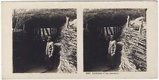 Grande Guerre Casemate BunkerWW1 Photo Stereo Vintage Argentique