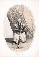 c.1856 JAPAN LITHOGRAPH PRINT FROM DAGUERREOTYPE - PRINCE OF IDZU