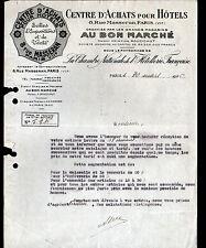 """PARIS (VII°) CHAMBRE NATIONALE DE L'HOTELLERIE """"AU BON MARCHE"""" en 1926"""