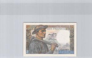 France 10 Francs Mineur 4.12.1947 P.152 n° 378997699 Pick 99f Splendide