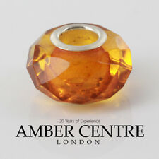 Genuine Amber Prism Charm– fits all European charms bracelets RRP£35!!!