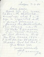 Letter Signed by H Szczesny ( Henry The Pole ) Polish Battle of Britain pilot.