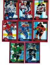 2016-17 O-Pee-Chee Platinum Red Prism Parallel Lot (8) Milano Lindberg RC /199