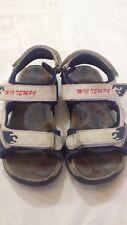 MIO TEMPO - sandali da bambino - bianco e blu scuro - N° 31 - con velcro  USATE