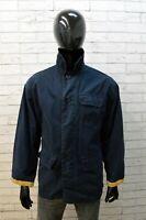 Giacca da Uomo Fay Taglia L Cappotto Cotone Giubbotto Blu Giubbino Jacket Man