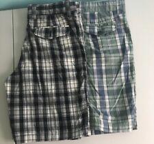 Tommy Hilfiger Golf Short 100% Cotton Plaid Lot Of 2 Size 34 C19